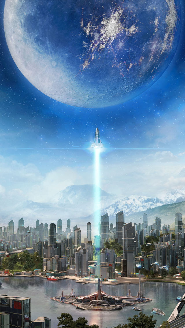 Funny Iphone Wallpaper Quotes Scifi City Iphone Wallpaper Hd