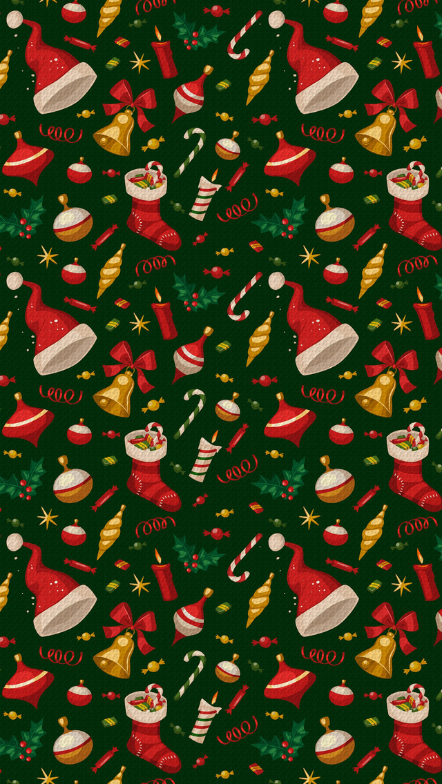 Iphone 4s New Wallpapers Christmas Pattern Iphone Wallpaper Hd