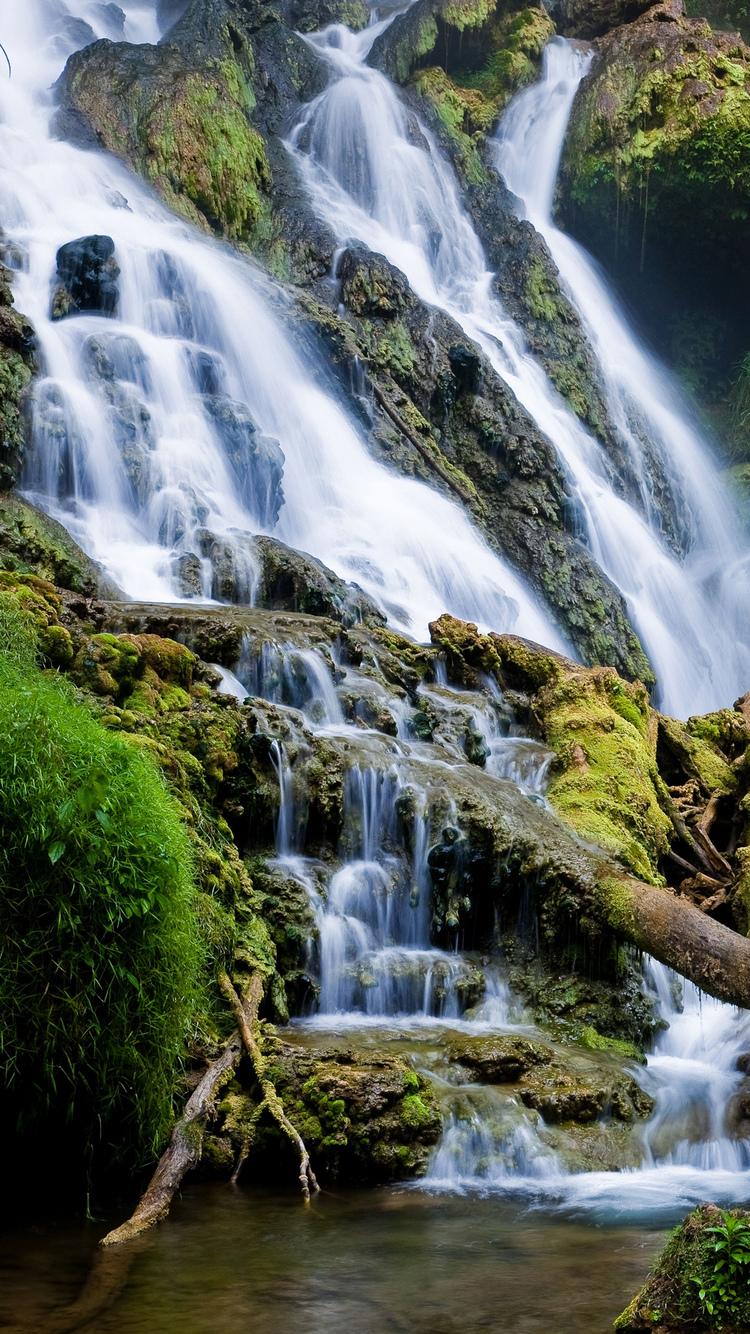 Quotes Wallpaper Iphone 5c Serene Waterfall Iphone Wallpaper Hd