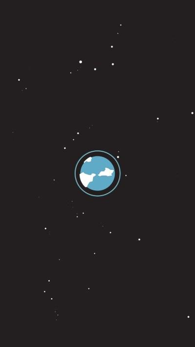 Minimal Earth iPhone Wallpaper HD