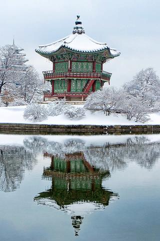 South Korea Gyeongbokgung iPhone Wallpaper HD