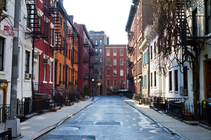 New York City - Historic buildings on Gay Street in Manhattan