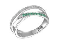 Channel Set Diamond and Emerald Wedding Ring - Allison's ...