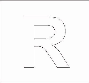 Capital R Template - Design Templates
