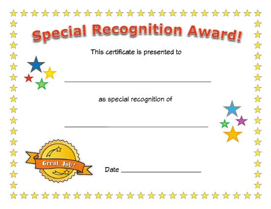 appreciation blank certificate templates