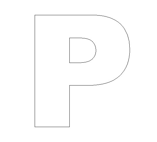 Alphabet-Felt-Board-Craft Crafts - Print your Letter P Template