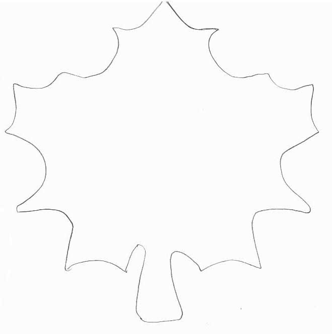 Fall Crafts - Print your Printable Leaf Template All Kids Network