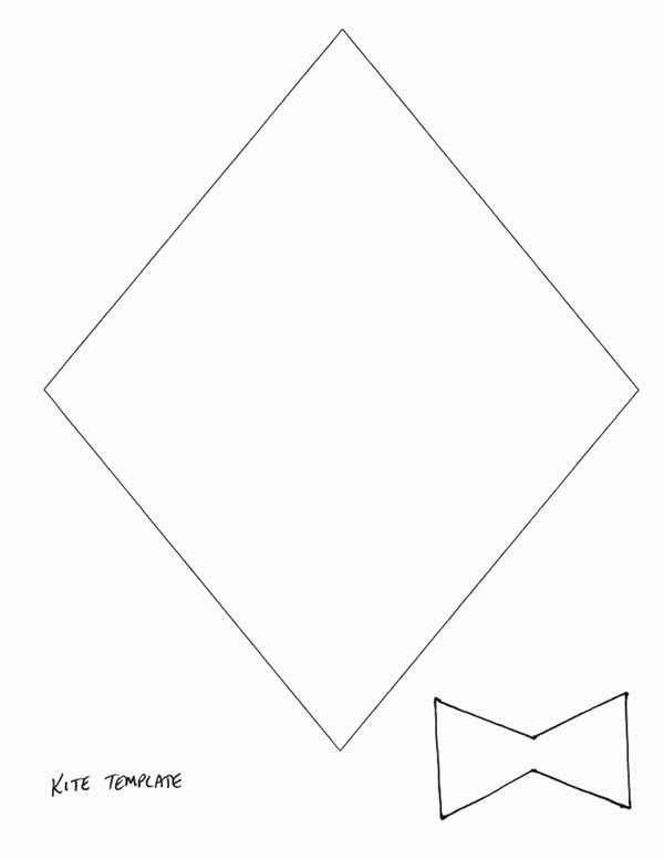 Spring Crafts - Print your Kite Template All Kids Network - kite template