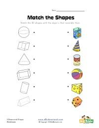 Dimensional Shapes Worksheets Choice Image - worksheet for ...