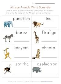 Jungle Animals Worksheets