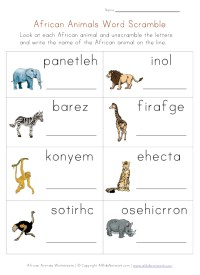 Jungle Animals Worksheets -  Our English Site