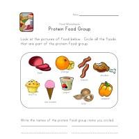 Protein Food Group Worksheet | All Kids Network