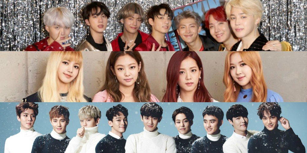 Bts Black Pink Exo And More K Pop Artists Listed On