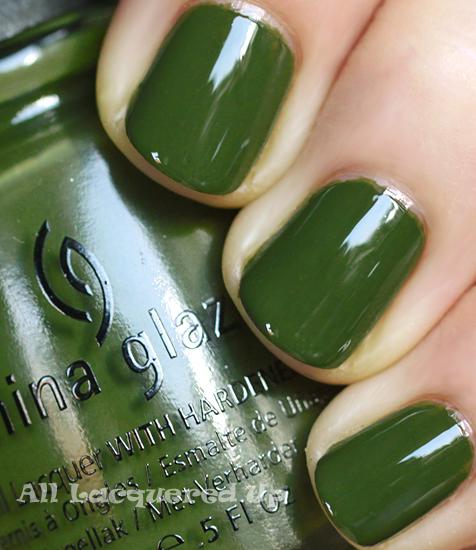 Fall 2011 Nail Polish Trend Military Greens All