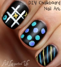 DIY Chalkboard Nail Art Tutorial : All Lacquered Up