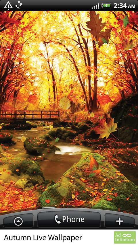 Falling Leaves Live Wallpaper For Android Live Wallpaper Sfondo Animato Android Autumn Autunno