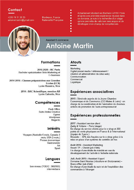 cv scientifique design