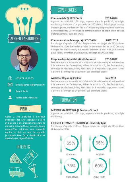 cv original marketing gratuit