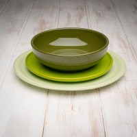 Handmade Green Tuscan Dinnerware Set