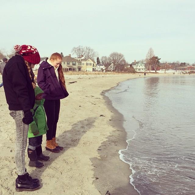 Willard Beach, Portland, Maine in Winter