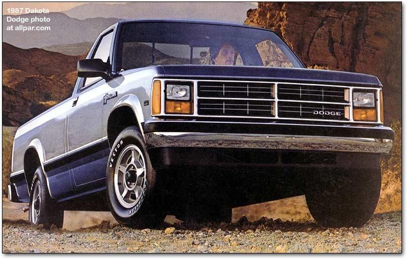 Dodge Dakota mid-sized pickup trucks, 1987-1996