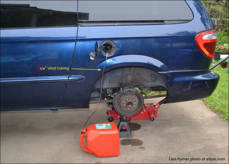 Fuel pump and gas tank replacement on 2002 (2001-07) Chrysler Town