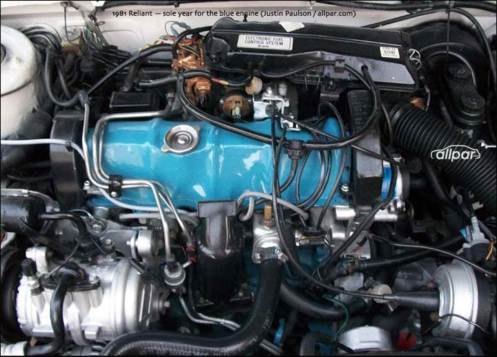 Mopar (Dodge/Plymouth/Chrysler) 22 liter engine - TBI or carbureted
