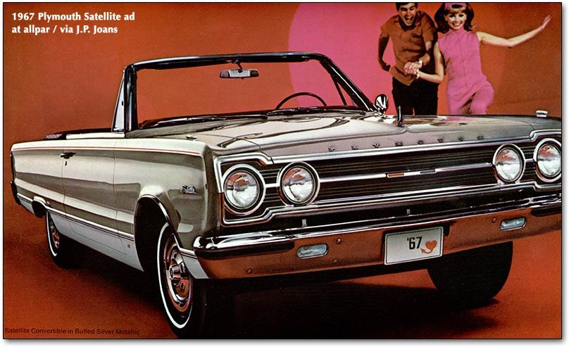 Plymouth Satellite, Plymouth Belvedere, and Road Runner pedestrian