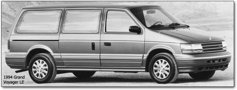 1994 minivans Dodge Caravan, Plymouth Voyager, Chrysler Town  Country