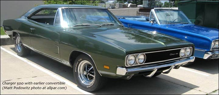 The legendary Dodge Charger muscle car, from 1964 to 1977