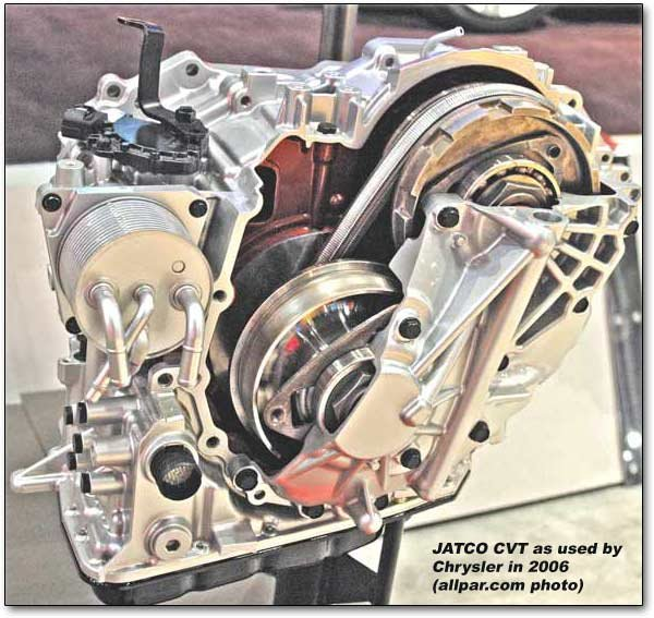 The Jatco CVT used in the Dodge Caliber, Jeep Patriot, and Jeep Compass
