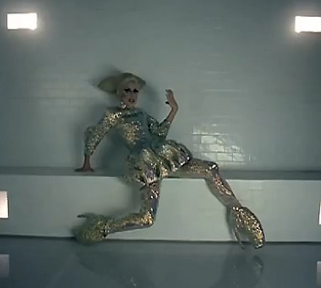 Lady Gaga in Bad Romance Video (McQueen)