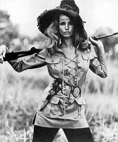 Veruschka in Yves Saint Laurent Safari Jacket (Vogue)