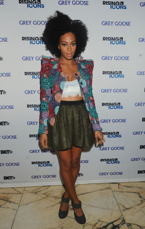 Solange at Mercedes-Benz Fashion Week