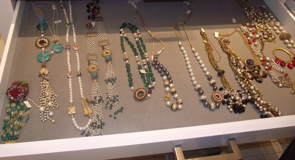 Jewelry in the Soigne K Boutique