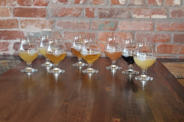 Beer samples at Odell Brewing (Image by LoudPen)