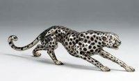 Silver Cheetah Statue, Lion-Statues-Sculptures, JNA2985S ...