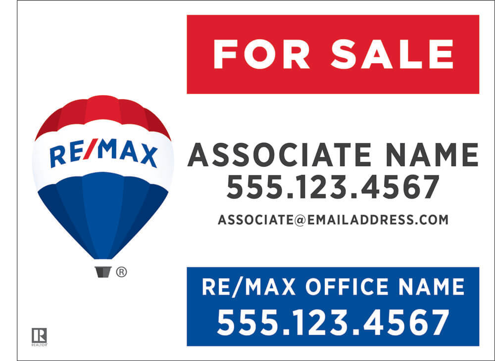 ReMax  ReMax for sale signs - sale signs
