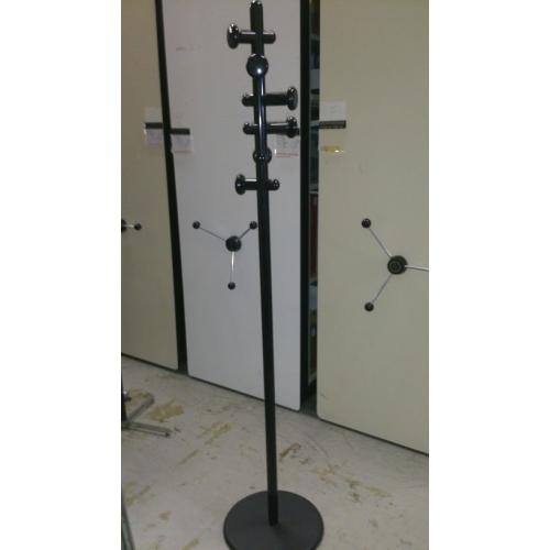 Black Steel 6 Hook Coat Rack Tree Allsoldca Buy