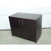 Mahogany 2 Door Storage Cabinet, Locking