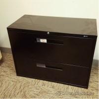 Global Black 2 Drawer Lateral File Cabinet, Locking ...
