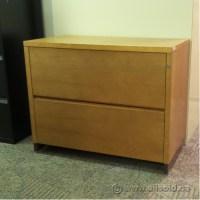 Medium Oak 2 Drawer Lateral File Cabinet, Locking ...