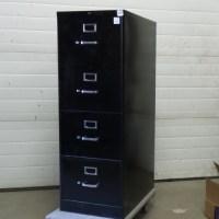 Black 4 Drawer Hon Vertical File Cabinet - Allsold.ca ...