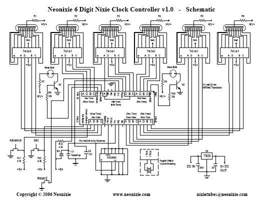 nixie tube wiring diagram