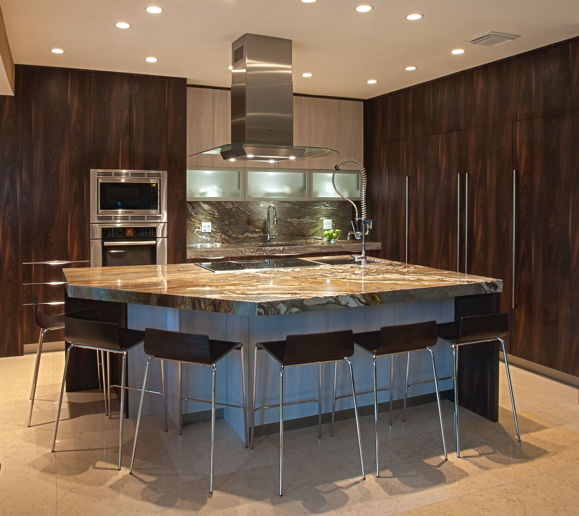 Cabinet Doors Textured Laminate laminate kitchen cabinets A sleek and modern designed kitchen with two tone using textured laminate The brown vertical
