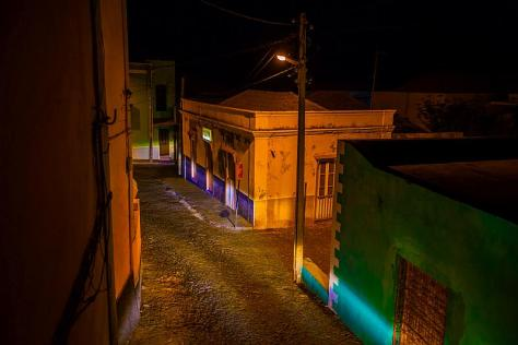 lonely street at night-time on Cape Verde