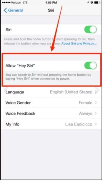 Use Siri hands free