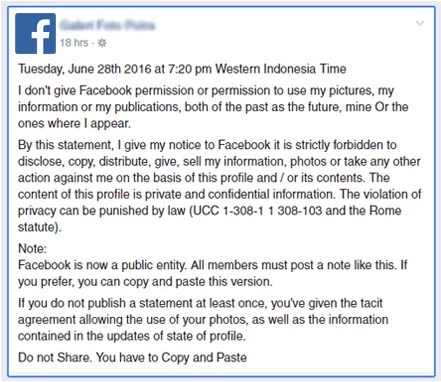 Status Updates About Facebook Privacy And Permission Notice Setting Are False (2)