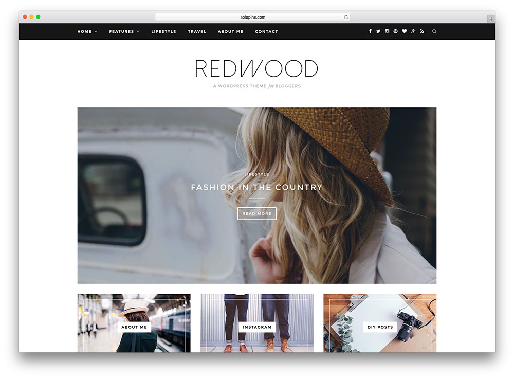 10 Best Fashion Blog WordPress Themes 2018 - All Template Reviews - fashion blogger templates