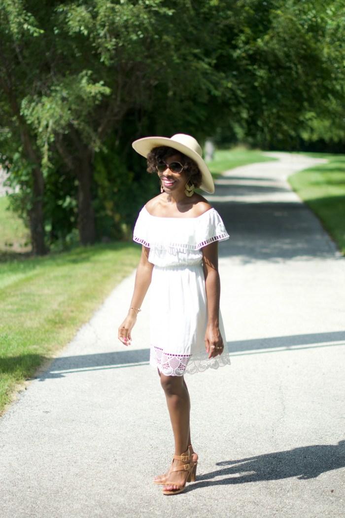 white-off-the-shoulder-lace-trim-dress